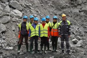 Aitik open pit (N Sweden) with chief mine geologist Greg D. Joslin